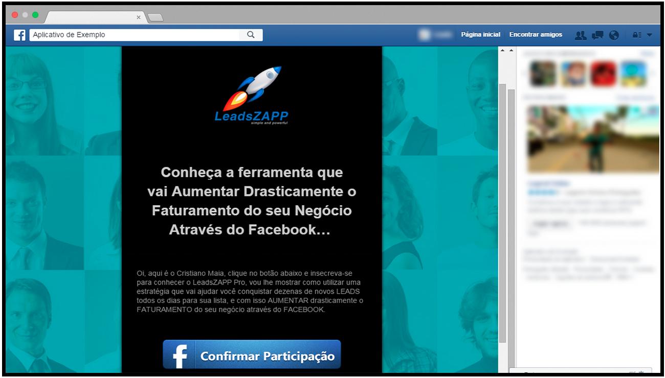 squeeze page canvas facebook leadszapp pro